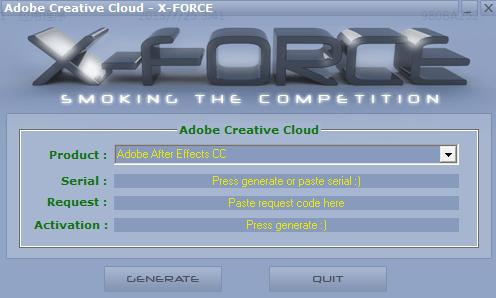 ADOBE CC KEYGEN 注册机