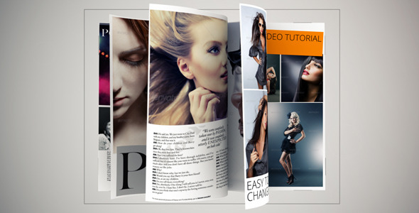 Videohive Magazine Animation Pro时尚创意杂志宣传AE模板