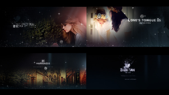 Videohive Fashion Particles – Fresh Postcard Opener时尚粒子婚礼开场AE模板