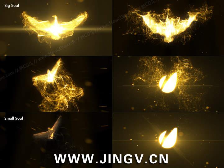 凤凰涅槃般的震撼标志揭示片头Phoenix Reveal