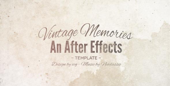 Videohive Vintage Memories温馨甜蜜婚礼AE模板