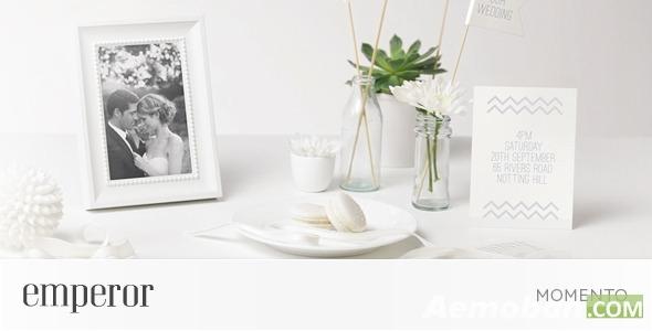 回忆效果结婚纪念AE模板-Momento