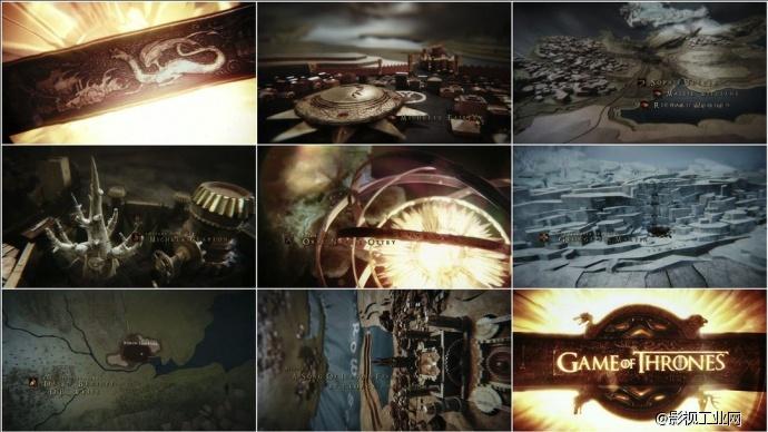 《权力的游戏:冰与火之歌》片头的诞生记!设计理念到最终成效