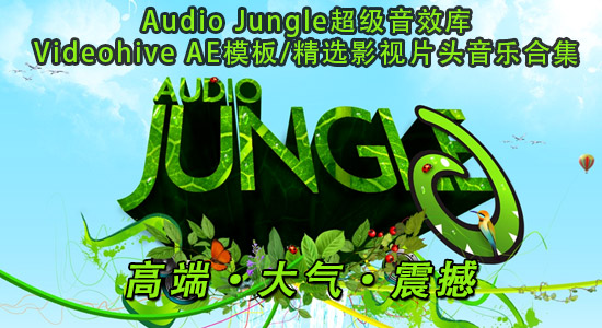 Videohive 模板中常用的 Audio jungle 音频素材片头背景音乐