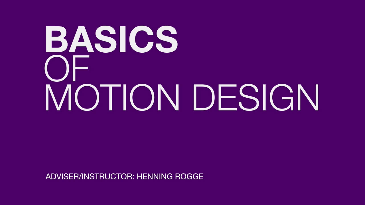 The Basics of Motion Design 动态设计基础