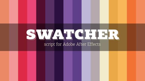 AE脚本-颜色选取配色脚本Swatcher Script