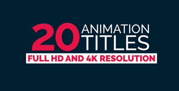 20组个性文字标题展示动画 4K分辨率