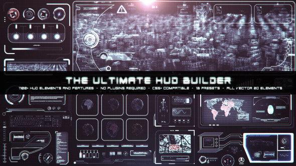 终极HUD高科技信息化动态UI元素包 VideoHive The Ultimate HUD