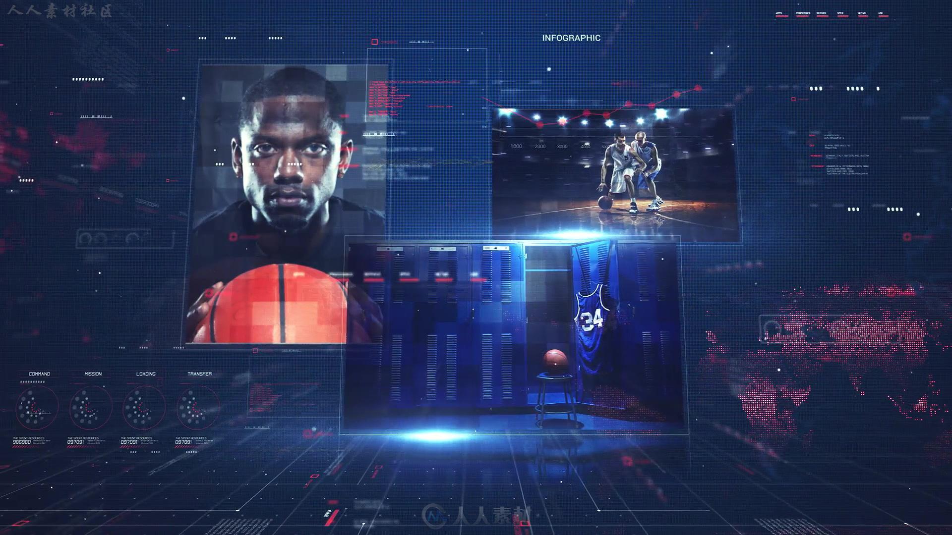 科技感数字全息展示动画AE模板Digital Holographic Promo